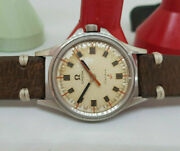 Very Rare 1969 Omega Admiralty Cal601 Silver Dial Manual Wind Manand039s Watch