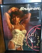 Rare Vintage Genuine Sexy Girl Snap-on Tools Wall Clock