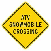 Lyle T1-1546-dg_18x18 Atv And Snowmobile Crossing Traffic Sign, 18 In Height, 18