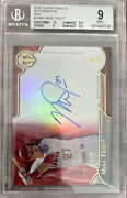2016 Topps Tribute Mike Trout Red Refractor On Card Auto And039d 4/5 Bgs 9 Auto 10