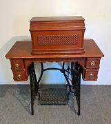 1891 Singer Coffin Top Fiddle Base Treadle Sewing Machine
