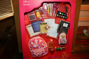 Our Generation Off To School Accessory Set Backpack Notebook Set Nip
