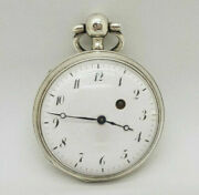 Antique French Solid Silver Quarter Repeater Pocket Watch Spare Only