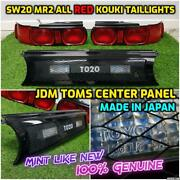 Jdm Genuine Toyota Sw20 Mr2 All Red Taillights Conversion Toms T020 Center Panel