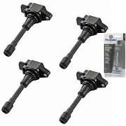 4 Pack Engine Ignition Coil And Grease For 07-17 Nissan Infiniti 3498cc 152cu 3.5l