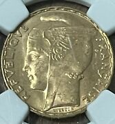 Rare One Year Design 1935 100 Gold Franc Ngc Ms64