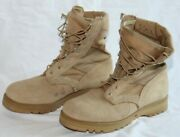Wellco Tan Temperate Desert Military Combat Tactical Boots Men's Size 9.5 W