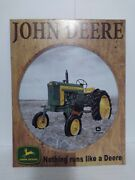 John Deere Sign Nothing Runs Like A Deere Pre-owned Old Stock Discontinued