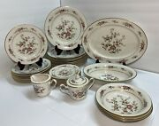 Noritake Ivory China 7151 Asian Song Set For 30 Plates And Serving Dishes