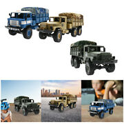 2.4g Wpl 1/16 Scale Rc Army Truck With Canopy Car Toy Gifts For Kids Adults