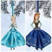 Disney Store Frozen Elsa And Anna And Olaf Sketchbook Ornament Set Lot In Box 2014