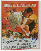 Gone With The Wind Movie Cast - Printed Photograph Signed In Ink With Co-signers