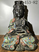 Old Collection Ancient Chinese Pure Copper Guanyin Bodhisattva Buddha Statue One