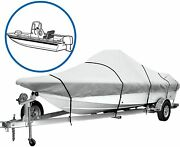 Icover 600d Trailerable Boat Cover Heavy Duty Boat Cover Fits V-hull Center C..