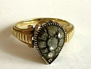 Antique Imperial Russian Faberge 14k 56 ПС Solid Gold Diamond Ring Authorand039s 2