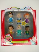 Cocomelon Family And Friend 6 Pack Jj Figure Play Set Toy You Tube Ships Fast