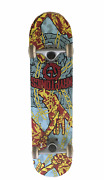 Kryptonics Skateboard Complete 31 Wooden Signed Trucks And Wheels Blood Chains