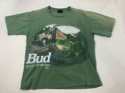 Vtg 1995 Budweiser Frog T-shirt Truck This Bud's For You Size L