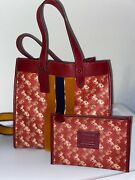 Nwt Coach Lunar New Year Field Tote With Horse And Carriage Print With Wallet