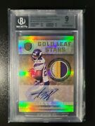 Adrian Peterson 2011 Gold Standard Game Worn Patch Auto 2/2 Bgs 9 Mint 🔥 Only 2