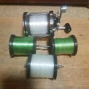 Penn Jigmaster 505hs High Speed Saltwater Fishing Reel With 3 Spare Spools