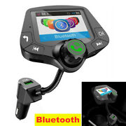 2'' Car Fm Transmitter Mp3 Player Bluetooth Wireless Radio Adapter Usb Charger