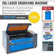 Omtech 60w 16x24in Co2 Laser Engraver Engraving Machine With 5200 Water Chiller