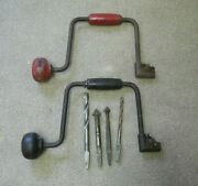 Hand Drills And Bits Vintage Cordless Drills 2 Total Unmarked With Wing Nuts