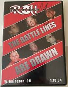 Roh The Battle Lines Are Drawn 2004 Dvd Ring Of Honor Wwe Aew Nxt Tna Pwg Ecw