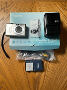 Canon Powershot Digital Elph Sd600 Camera With Sd Card, 2 Batteries And Bag