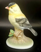 Lefton China Gold Finch Kw 6609 Bird Figurine Made In Japan Mabl