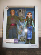 Frozen Anna + Kristoff Troll 12 Wedding Doll Set Disney Store Out Of Production