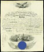 Andrew Johnson - Naval Appointment Signed 03/12/1868 Co-signed By Gideon Welles