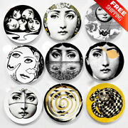 Color Wall Decorative Hanging Craft Dishes Vintage Plates Nordic Lady Face Plate