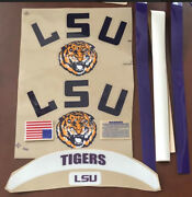 Louisiana Lsu Helmet Decals With Sides-extras-stripes And....20mil 3m