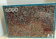 Schmidt Puzzle 6000 Pieces What A Crowd Menschen New Sealed W.germany Rare