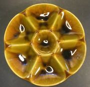 Mid Century French Majolica Oyster Plate From Gien, France