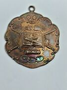Antique New York Three Links L.o.o.f Independent Order Odd Fellows F.l.t. Medal
