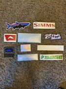 10 Fly Fish Fishing Stickers Simms Orvis Sage Lamson Fly Men Fishing