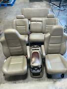 2005-2007 Ford Excursion Front Seats Rear Console Tan Leather Limited Heated