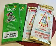 Lot Of 4 Vintage Christmas Tree Tinsel Icicles1060 And 500 Strands18 Inches Long