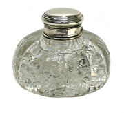 And Co Sterling Silver And Rock Crystal Cut Glass Perfume Bottle By J. Hoare
