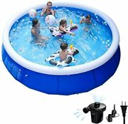 Inflatable Swimming Pools For Kids And Adults Above Ground, Family Top Ring Poo
