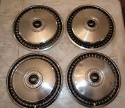 4 - Oem 1970s Ford F Series Truck Hubcaps - For 15 Rims In Good Used Condition
