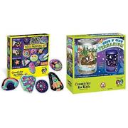Creativity For Kids Glow In The Dark Rock Painting Kit - Paint 10 Rocks With Wat