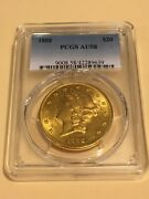 1888 Au58 Pcgs Liberty Double Eagle 20 Gold Coin Great Appeal Looks Ms