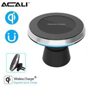 360° Rotation 2in1 Qi Wireless Charger Charging Pad + Magnetic Car Mount Holder