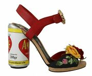 Dolce And Gabbana Shoes Womenand039s Multicolor Floral Heels Amore Sandals Eu35/us5