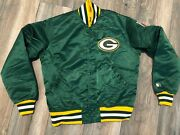 80's Starter Green Bay Packers Satin Jacket Men's Small Usa Minty