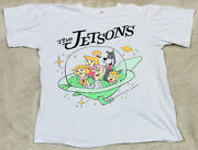 Vtg 80and039s The Jetsons Spaceship Huge Graphics Single Stitched T-shirt Menand039s L